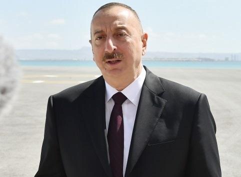 Президент принял участие в ряде открытий в Балакене