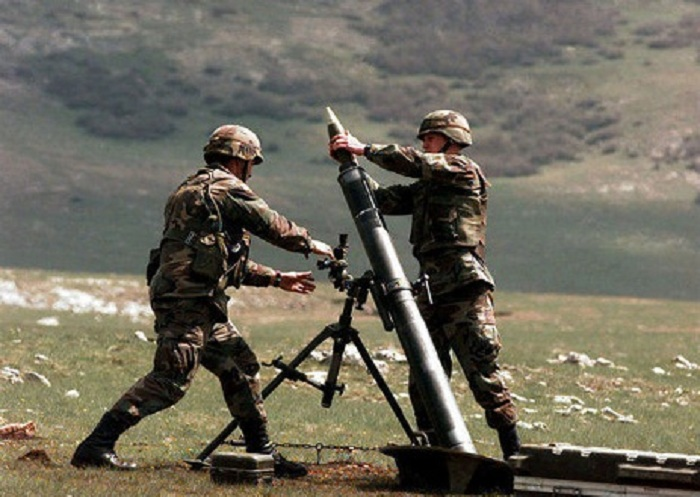 Mortar batteries` live-fire training exercises -