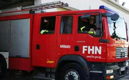 Bakıda avtomobil dayanacağı yandı - FHN-dən açıqlama