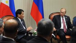 Duterte asks Putin to help crush IS-linked fighters