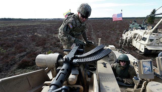 В Литву прибывает военная техника НАТО