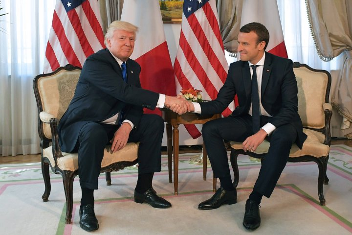 Trump meet with Macron