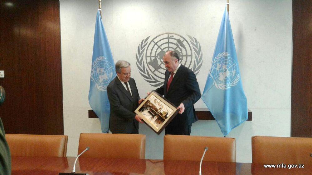Elmar Mammadyarov met with Guterres