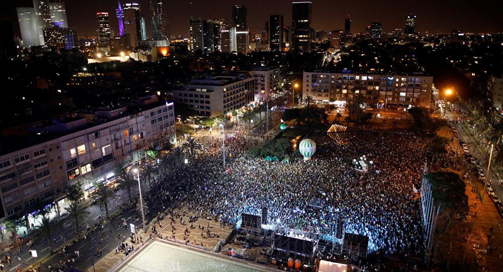 نئتانیاهو شوکدا: ایسرایللیلر فیلیسطین اوچون کوچهلره آخیشدی