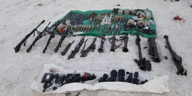 Russians discovers arms cache abandoned by militants