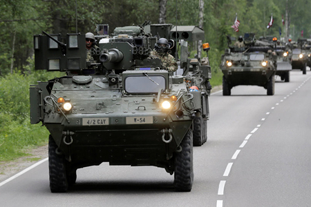 NATO exercises have begun on the border with Russia