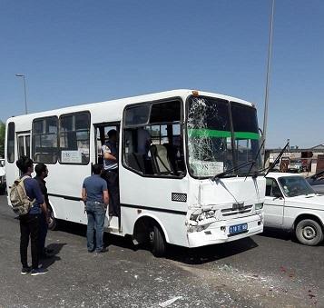 Bakının mərkəzində avtobus piyadanı vurub öldürdü