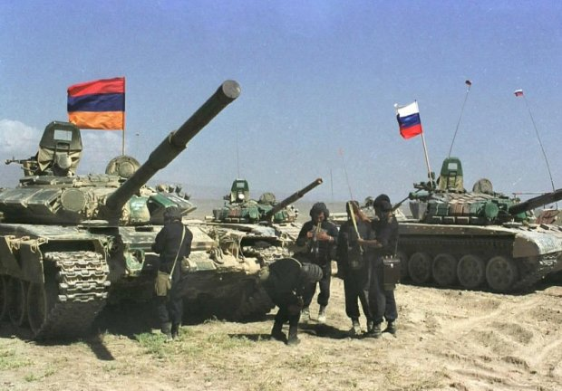 The Armenian army conducted tank training