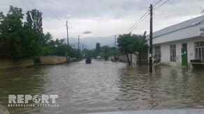 Goranboyda sel suları fəsadlar yaratdı