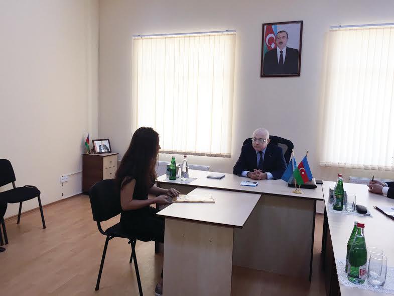 Aydın Əliyev Oğuzda vətəndaşları qəbul etdi