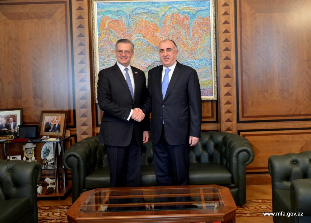Elmar Mammadyarov met with Manuel A. González Sanz