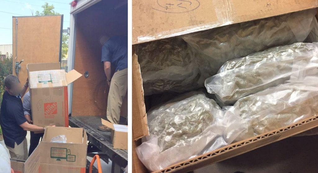 Армянин вез на авиабазу ВВС США 300 кг марихуаны - Видео