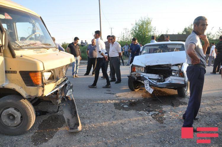 Sabirabadda ağır qəza: 5 yaralı