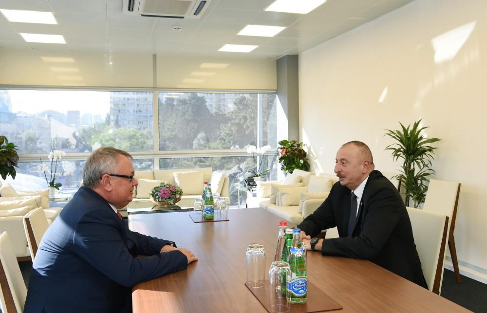 President Ilham Aliyev received Andrey Kostin