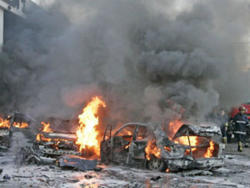 A military bus was blown up in Damascus: 14 dead -