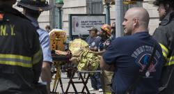 At least 34 injured in New York city subway train derail