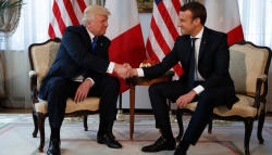 Macron,Trump agree to work together