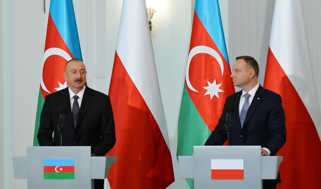 Azerbaijani, Polish presidents hold  meeting