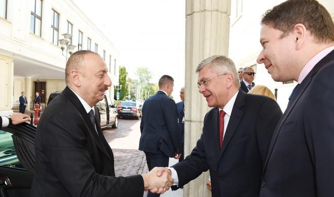 Ilham Aliyev met  the Marshal of the Senate of Poland