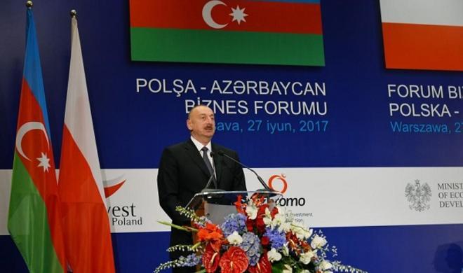 President Ilham Aliyev attended business forum -