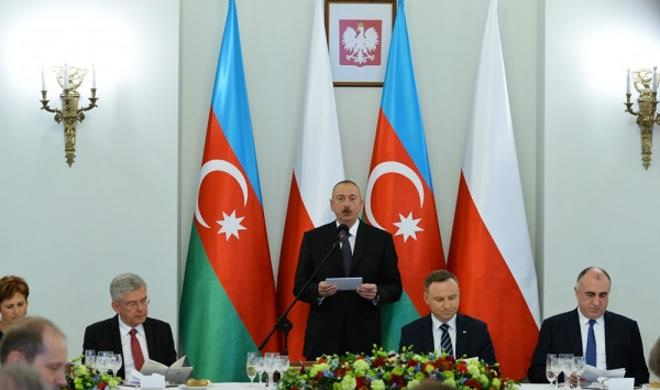 An official reception held in honour of Ilham Aliyev -