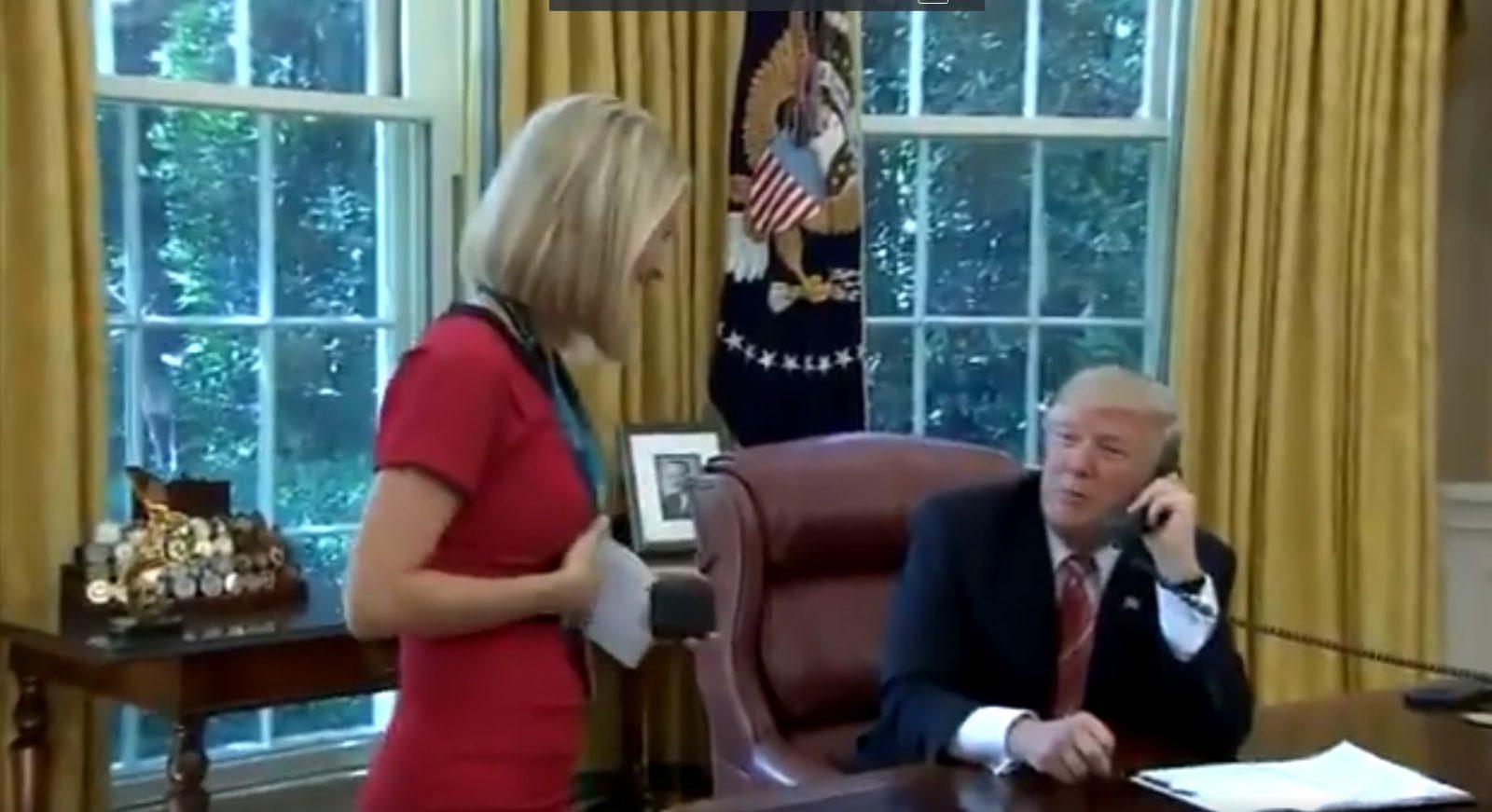 Трамп прервал разговор с премьером ради журналистки