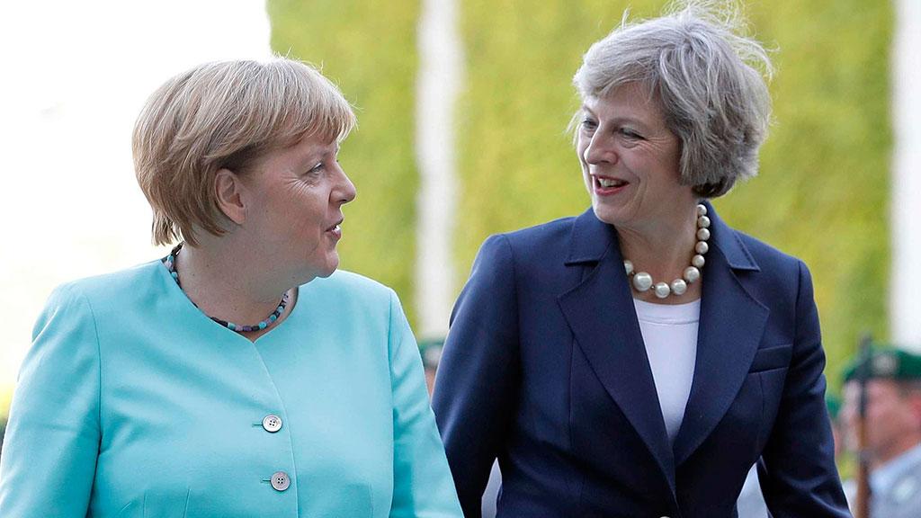 Названа главная тема встречи Меркель и Мэй