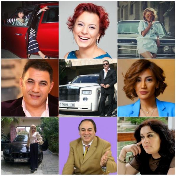 Цена и марки авто азербайджанских певцов