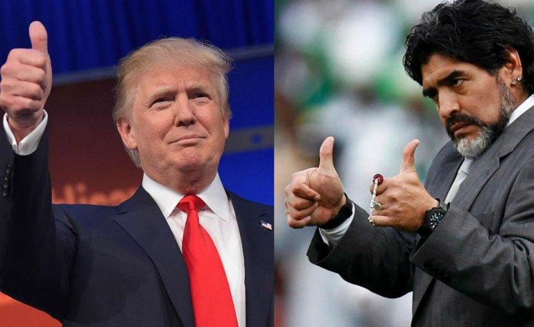 Image result for maradona vs trump