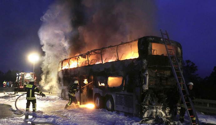 Avtobusda 52 nəfərin yanıb ölməsi ilə bağlı rəsmi məlumat