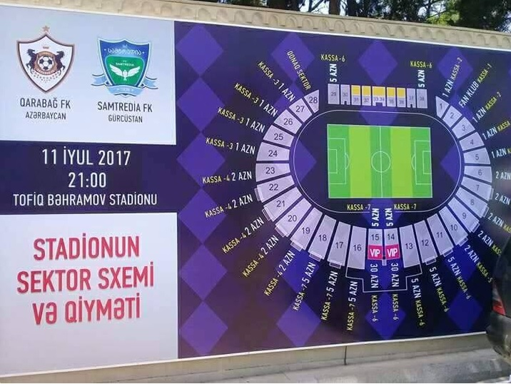 Qarabag - APOEL match: 25,000 tickets already been sold