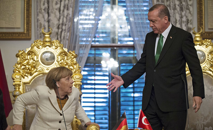 Эрдоган призвал турок не голосовать за партию Меркель