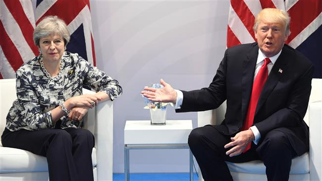 Theresa May condemns Trump's 'go home' remark