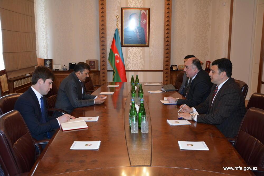 Mammadyarov meets outgoing Tajik ambassador