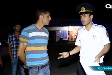 Goranboyda keçirilən reyddə təhlükəli anlar - Video