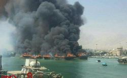 Yunanıstan sahillərində türk gəmisi yandı