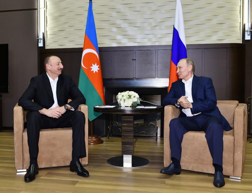 Əliyev və Putin Soçidə Qarabağı müzakirə etdi