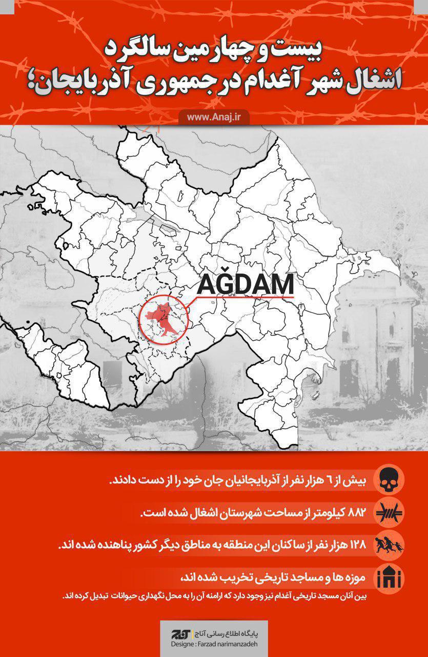 بیست و چهارمین سالگرد اشغال شهر آغدام در جمهوری آذربایجان