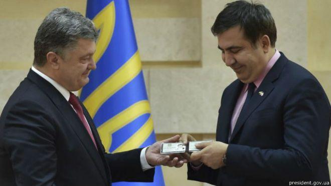 Саакашвили написал Порошенко письмо