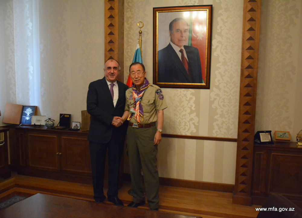 Elmar Mammadyarov met with Ban Ki-moon