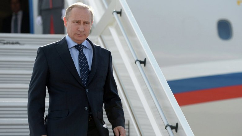 Putin arrives at the airport in Riyadh -