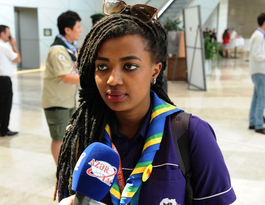 Ruandalı skaut: İstəyirəm azərbaycanlılarla...
