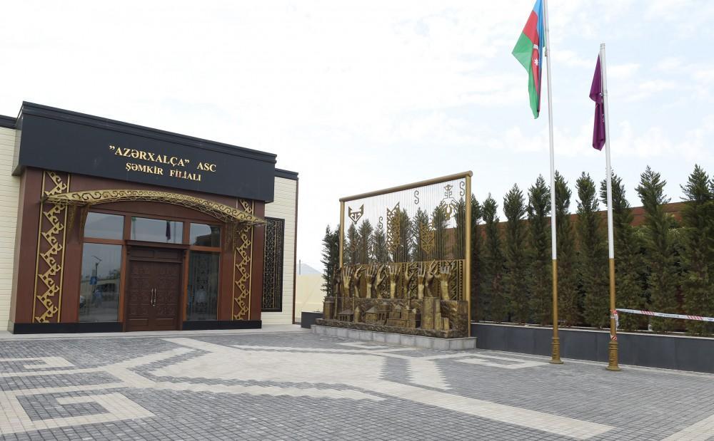 """Ilham Aliyev opened Shamkir branch of """"Azerkhalcha"""" OJSC"""