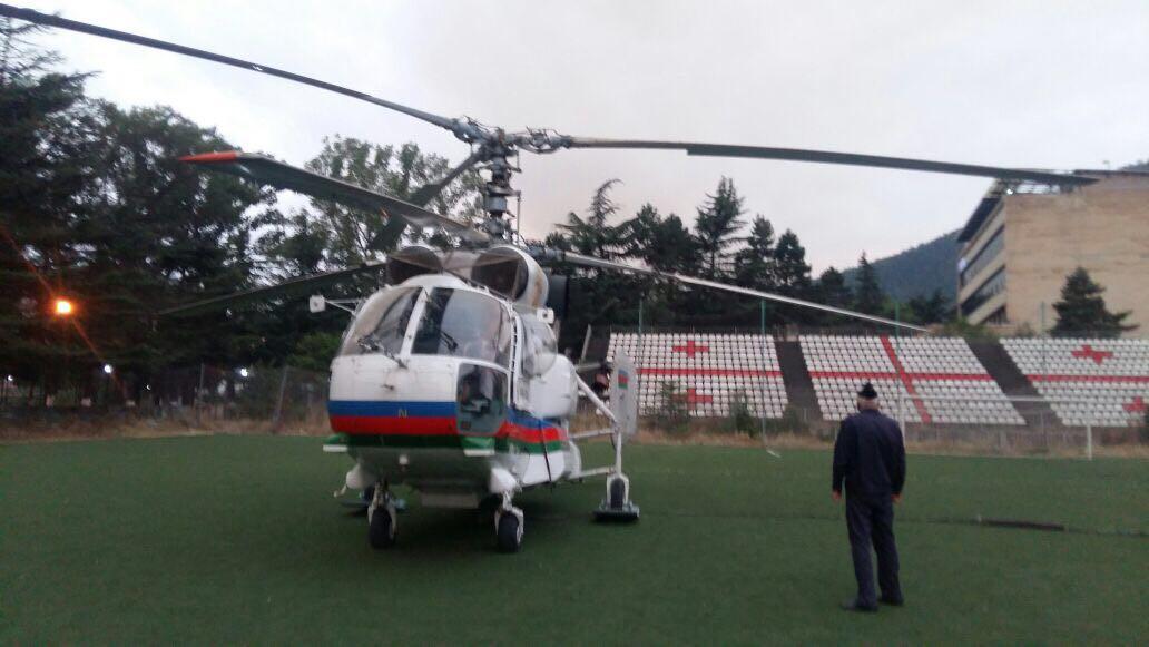 آذربایجان نوبتی هلیکوپتری گورجوستانا گؤندردی