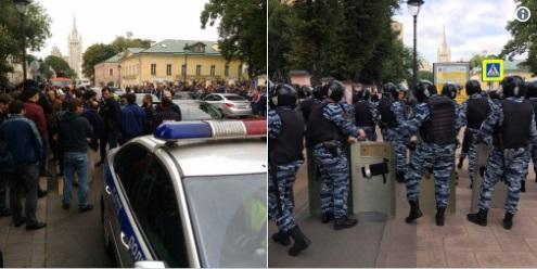 Kommunistlər Moskvada mitinq keçirdi