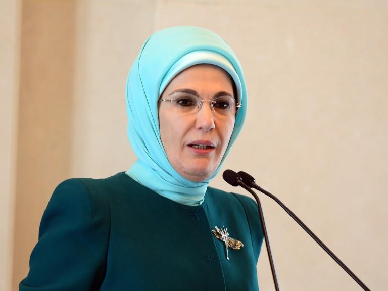 Эмине Эрдоган почтила память героев 15 июля