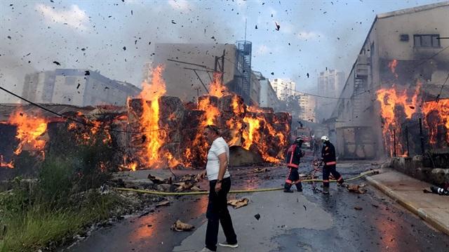 İstanbulda xəstəxana yanır
