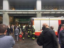 Bomb alarm in the parliament building in Ukraine