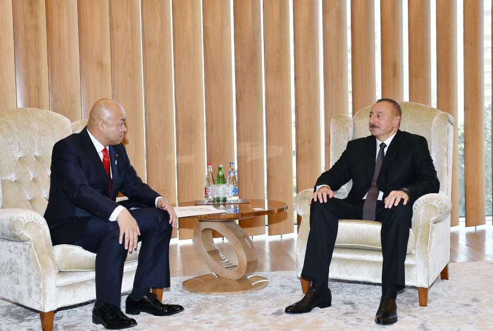 Ильхам Алиев принял замглавы МИД Японии