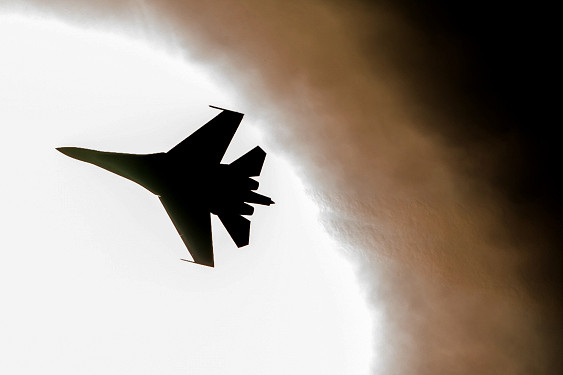 В Житомире разбился самолет Су-27